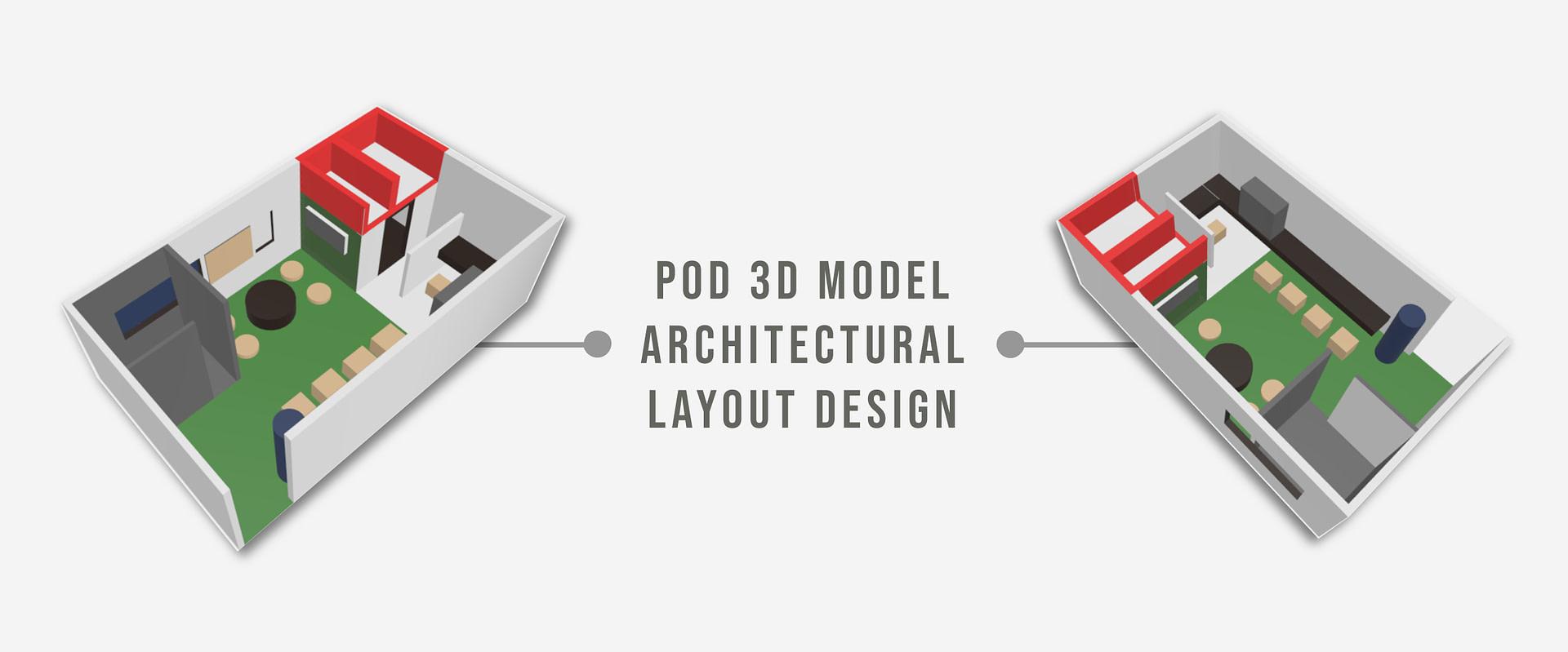 POD Architecture Isometric 3D Model